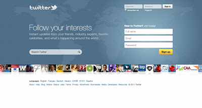 The Evolution of Twitter Homepage From 2006 to 2011 (Pics)