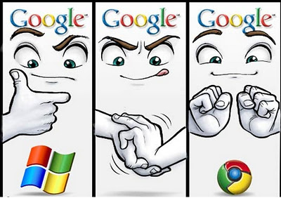 Is Google Chrome Logo Inspired By Microsoft Logo (Comic)