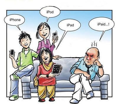 iPhone iPod iPad and iPaid (COMIC)