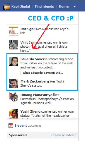 Mark Zuckerberg and Eduardo Saverin Friends Again Courtesy TICKER [PIC]