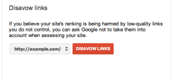 Disavow links feature of Google Webmaster Tools.