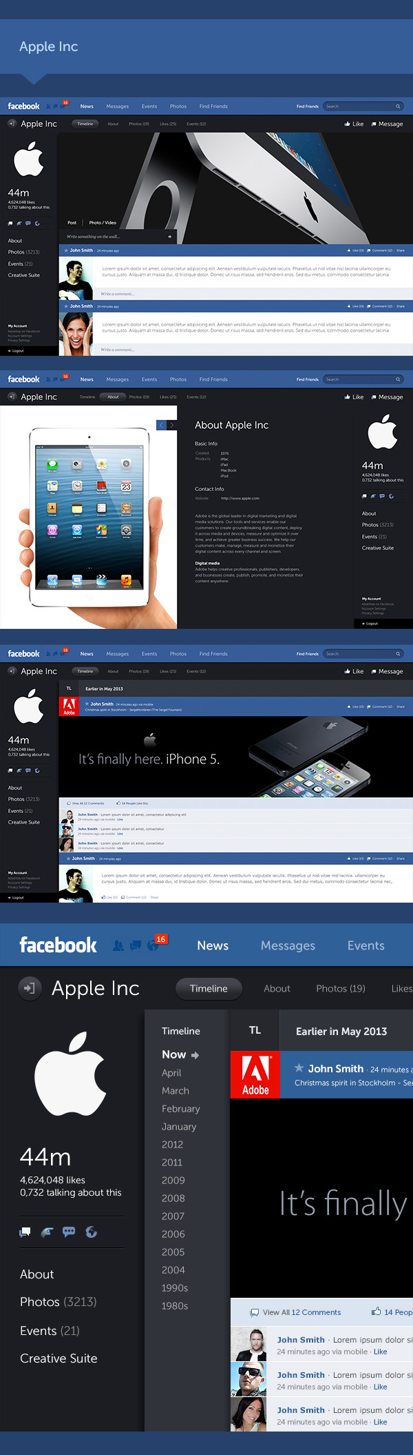 Facebook new design concept 5