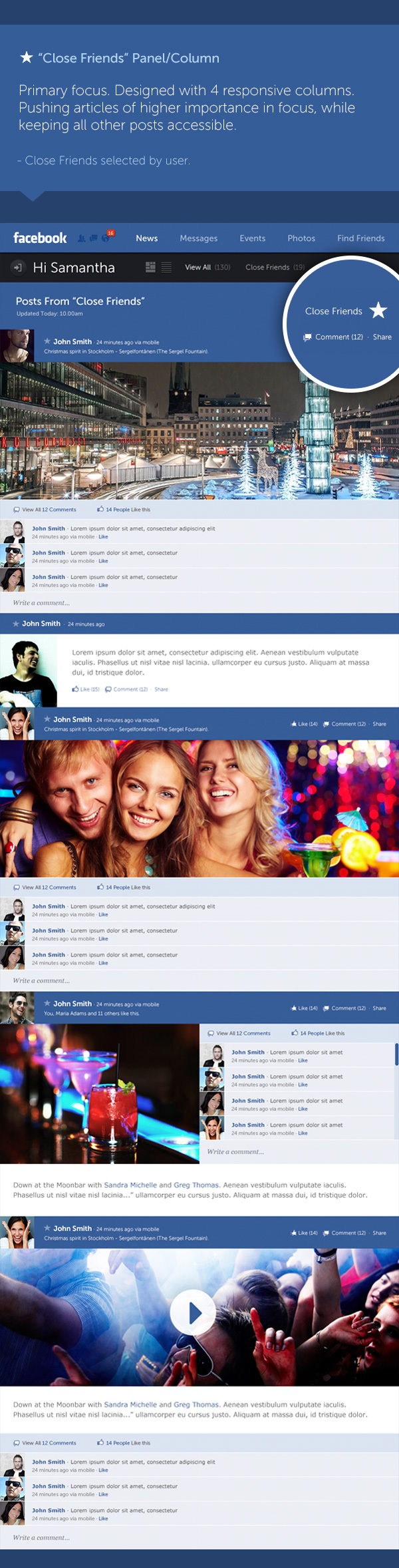 Facebook new design concept 3