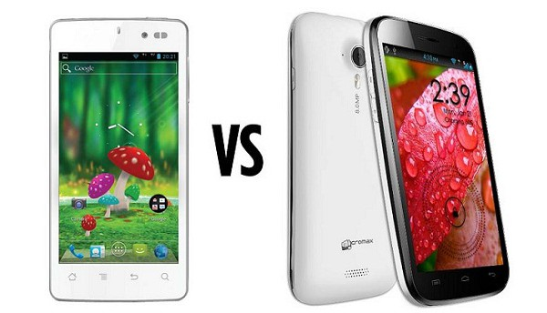 Karbonn Smart titanium 1 vs Micromax canvas HD
