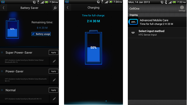Mobile care Battery life