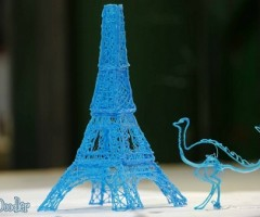 3Doodler, Eiffel tower and Dinasour in 3D