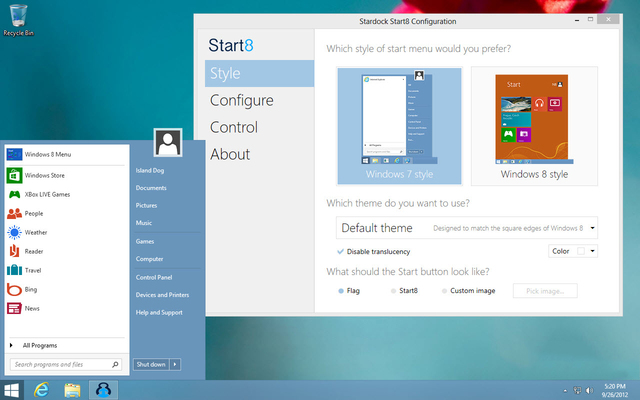Windows 8 Start Menu Alternatives   thetecnica
