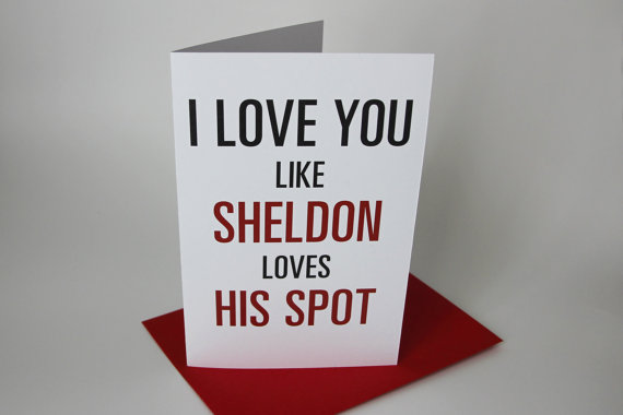 sheldon valentines day card bang theory tv show - Geeky Valentines Cards