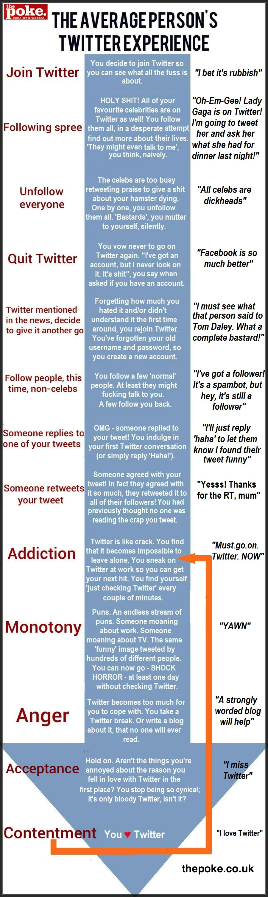 Average Person's Twitter Experience Infographic