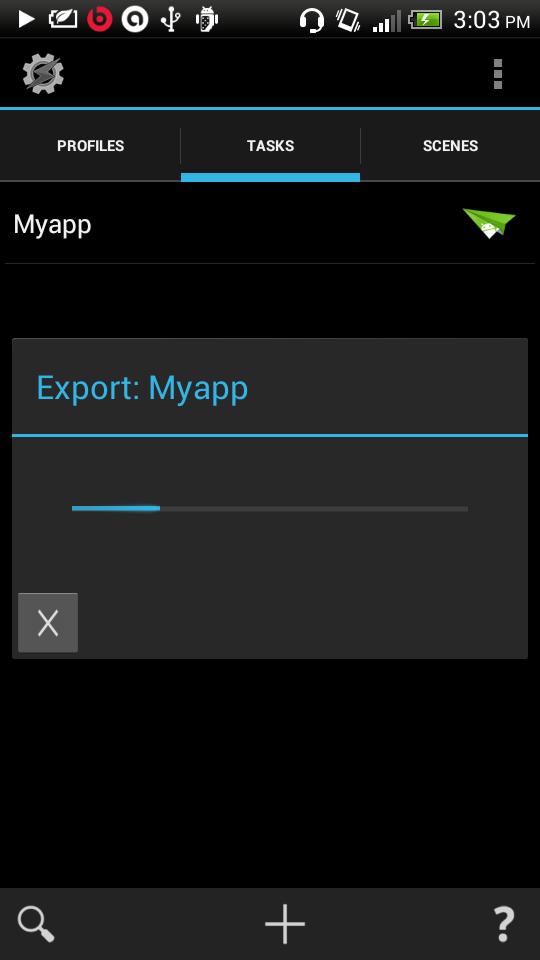 exporting app
