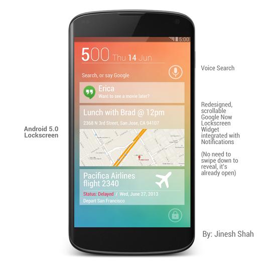 Android 5.0 Lockscreen