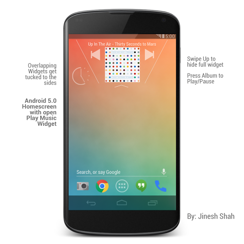 Android 5.0 Music Widget