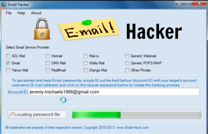 hotmail password decrypter: