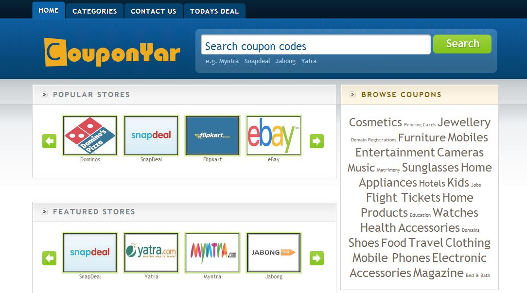 Couponyar.in - The Best Place For Coupons and Deals in 2013
