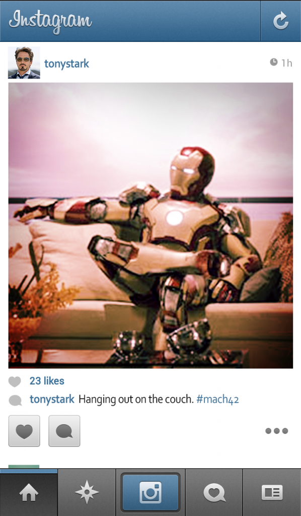 tonystark (Iron Man) Instagram