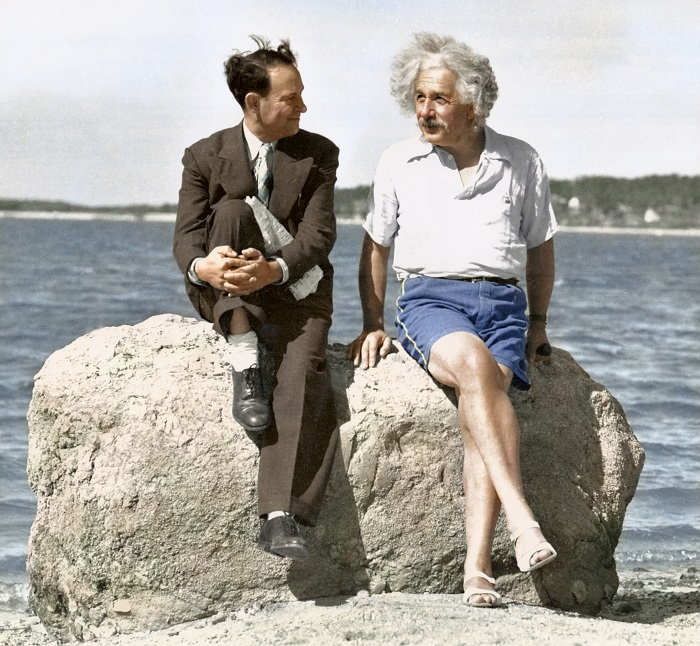 Albert Einstein, summer 1939 - Nassau Point, Long Island, NY