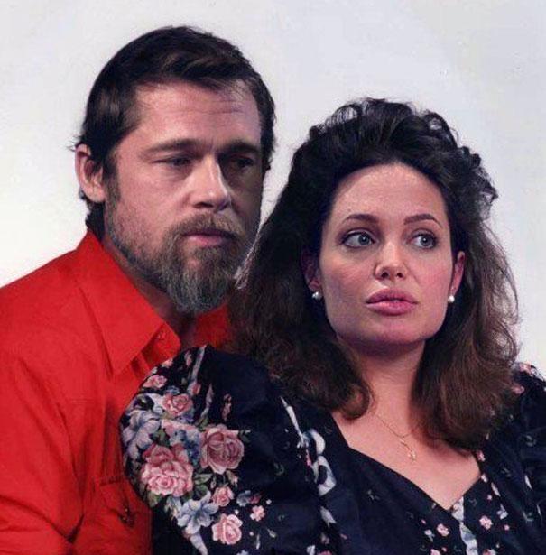 Brad Pitt and Angelina Jolie as ordinary people