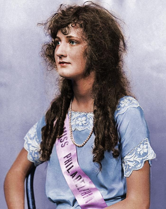 Miss America 1924 Colourized