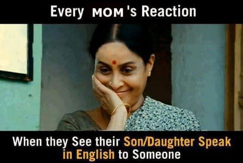 Every Mom's Reaction When they see their child speak in English