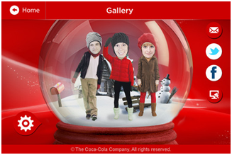 Coca Cola Christmas Snow Globe