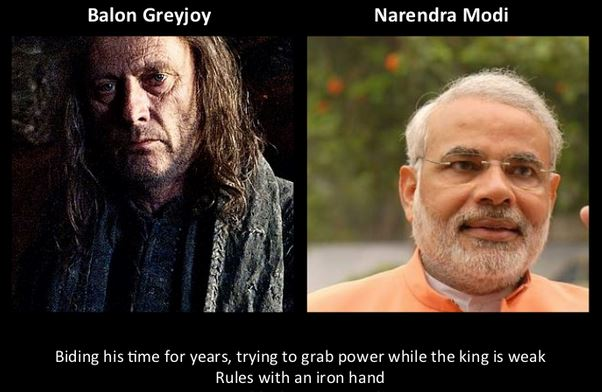 Narendra Modi as Balon Greyjoy