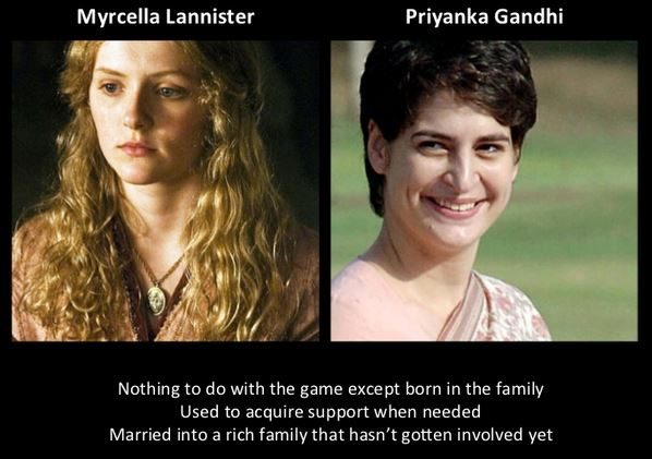 Priyanka Gandhi as Myrcella Lannister