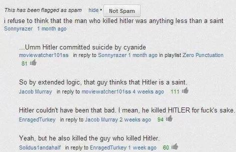 hitlers comment on youtube