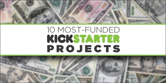 most funded kickstarter projects