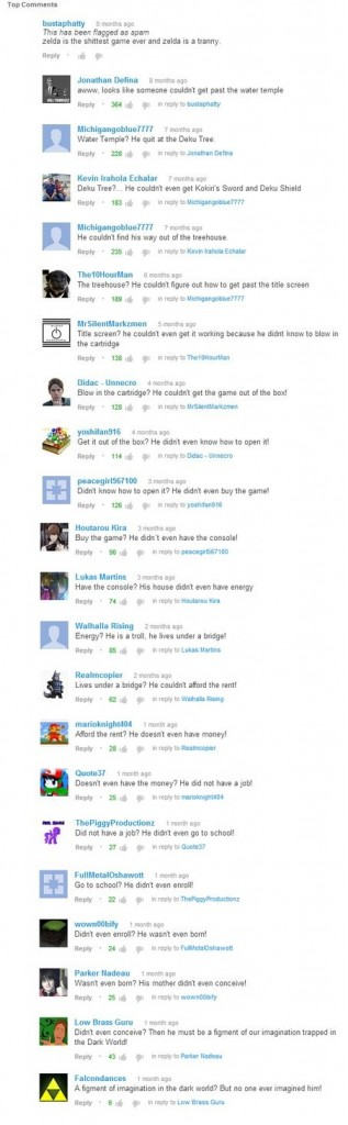 youtube comment chain