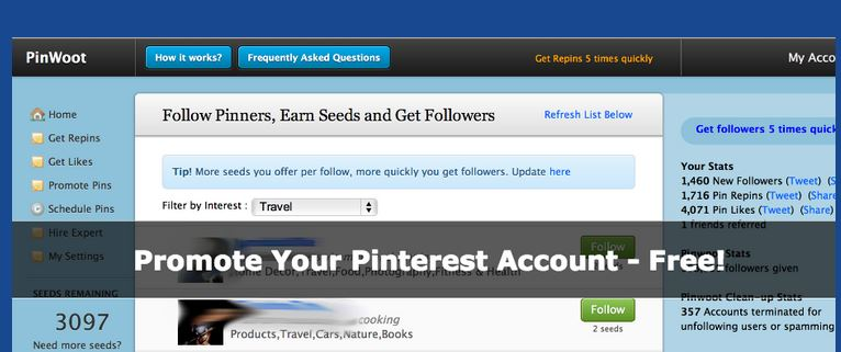 pinwoot - best Pinterest marketing tool
