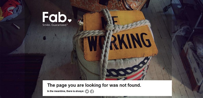 Fab 404 page