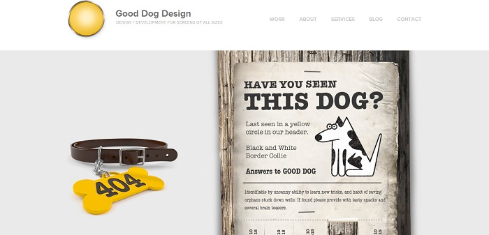 Good Dog Design 404 page