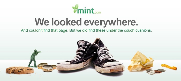 Mint 404 page