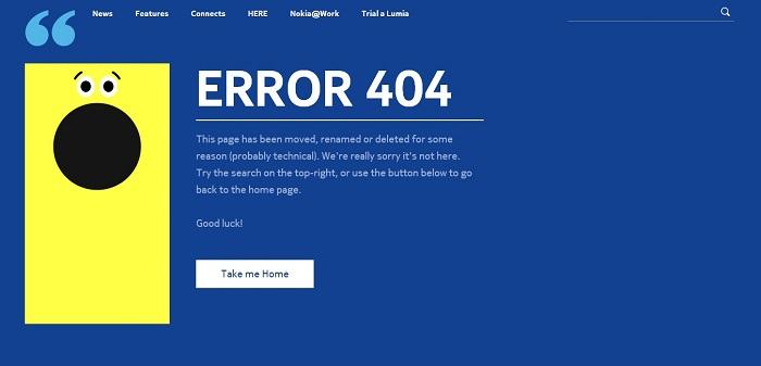 Nokia Conversations error page