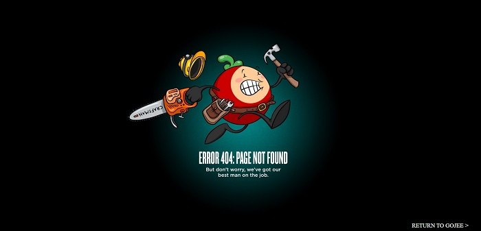 gojee 404 page