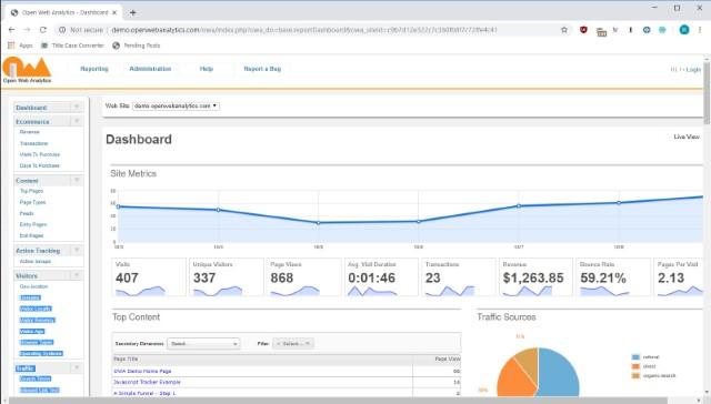 2. Open Web Analytics