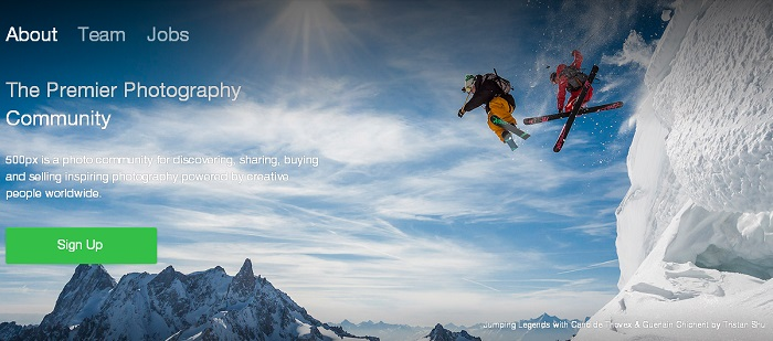 500px About Us Page design