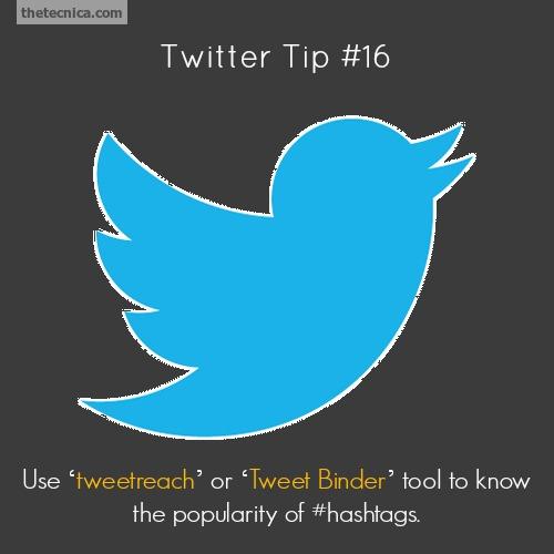 Twitter tip 16