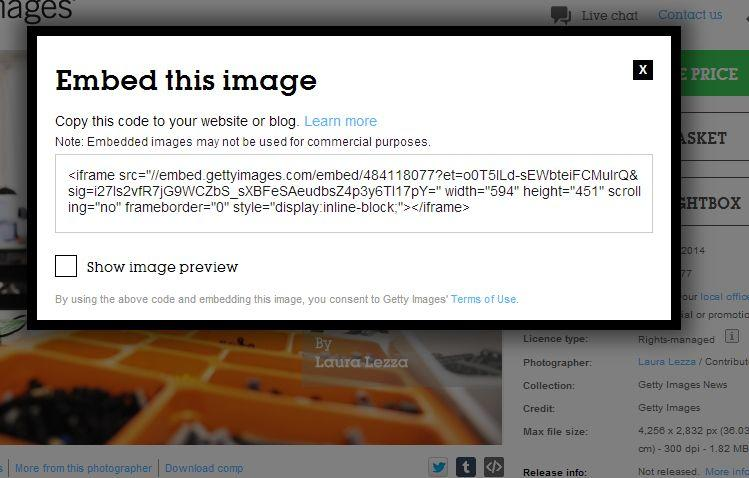 GettyImages Embedding