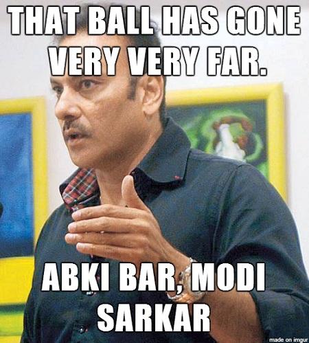 Ravi Shastri : Abki bar Modi Sarkar