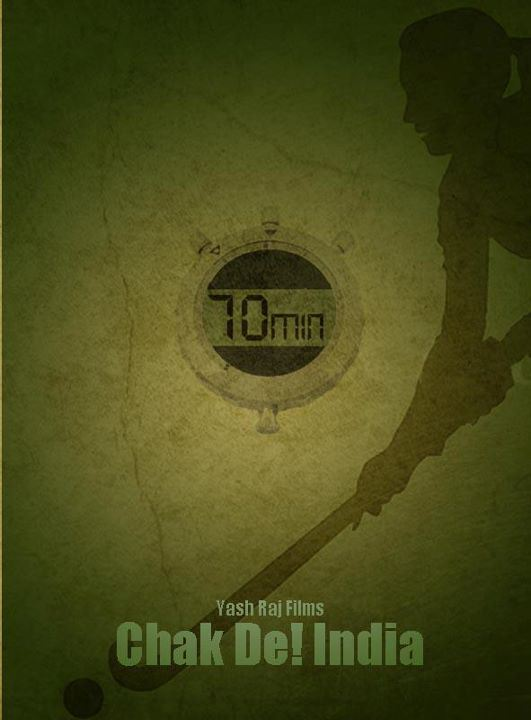 Chak De India movie's Minimalistic poster Akshar Pathak