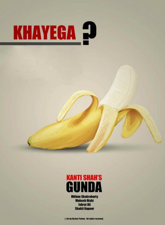 Gunda's movie's Minimalistic poster Akshar Pathak