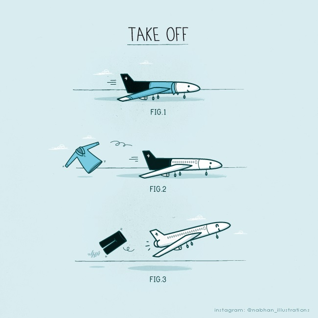 Here's how to take off