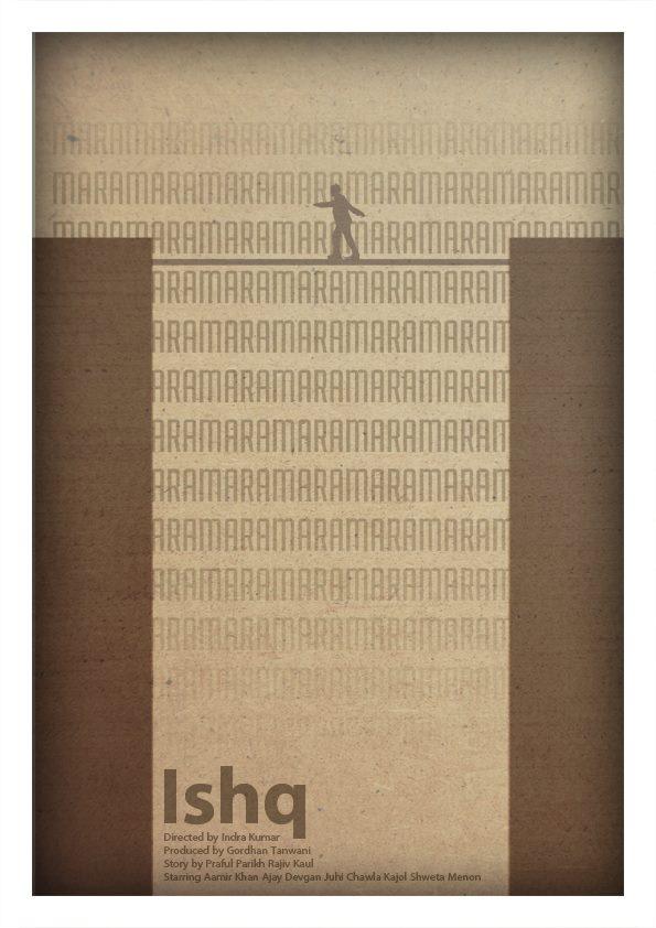 Ishq movie's Minimalistic poster Akshar Pathak