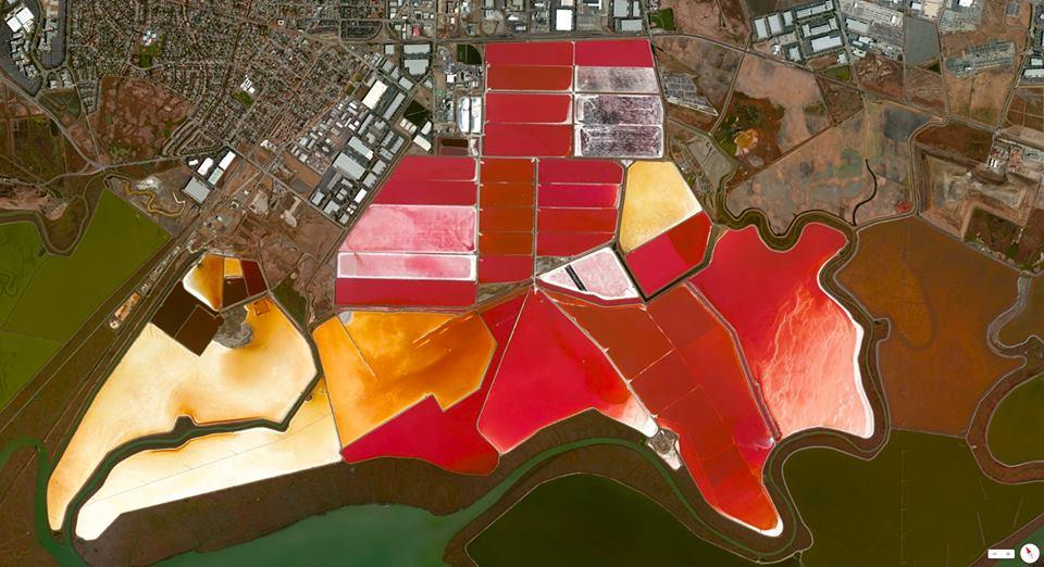 San Francisco Bay salt evaporation ponds