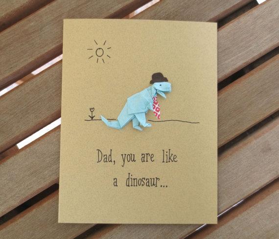 dad dinosaur card, dad greeting card