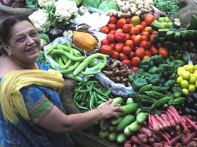 buying vegetable
