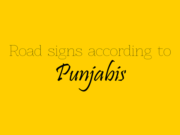 Road signs according to Punjabis