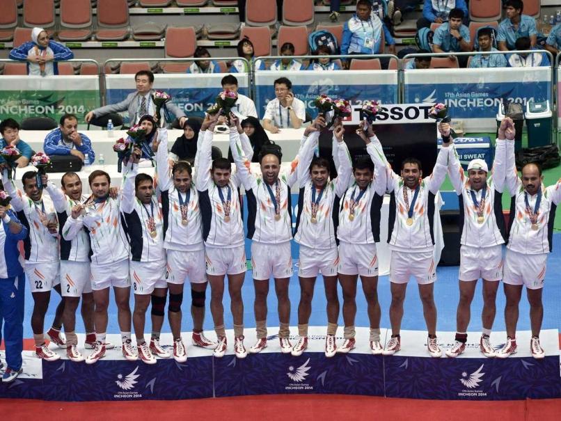 Indian Men Kabaddi Team After Winning Their Gold Medal Match