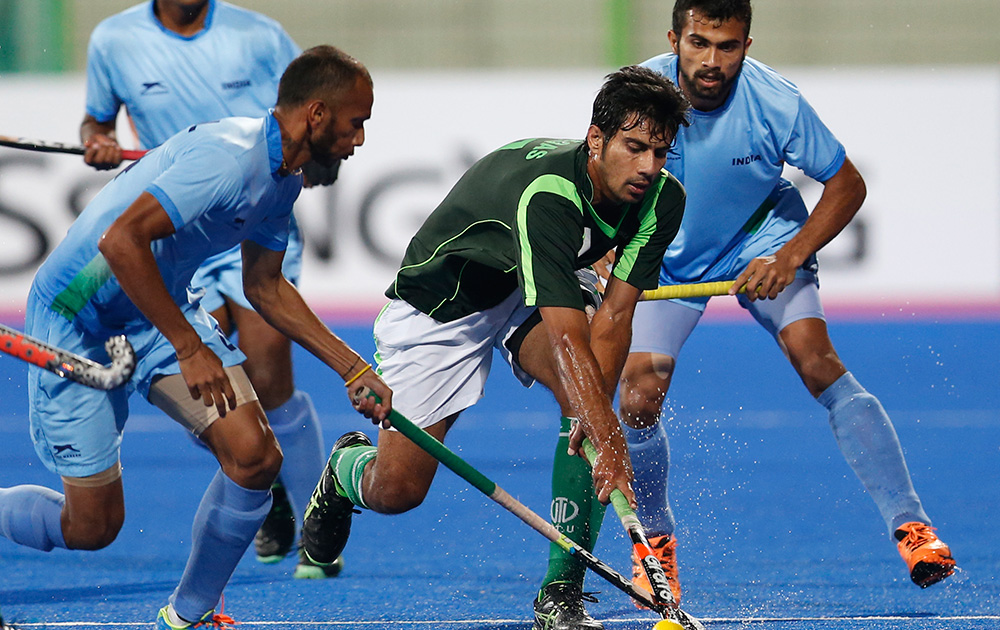 Indian Players In Action Against Pakistan In The Finals Which They Won